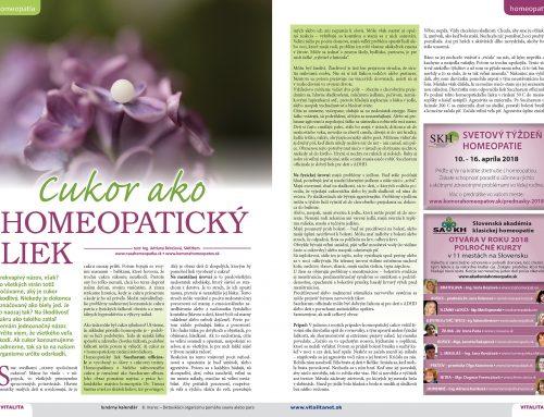 Cukor ako homeopatický liek